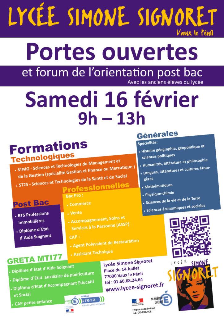 Portes Ouvertes 2019 Et Forum De Lorientation Post Bac Lycée